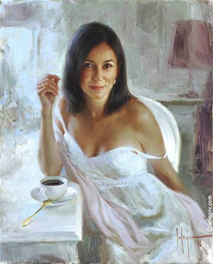 White Dress Painting
